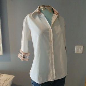 Burberry Nova check button down women's shirt XXL